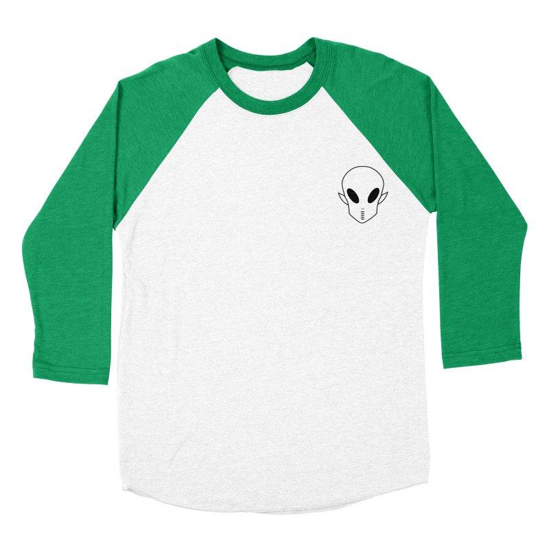 EZO Alien Wannabe Patch - Black Outline Men's Baseball Triblend T-Shirt by ezo's Artist Shop