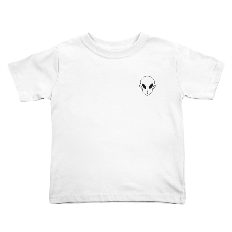 EZO Alien Wannabe Patch - Black Outline Kids Toddler T-Shirt by ezo's Artist Shop