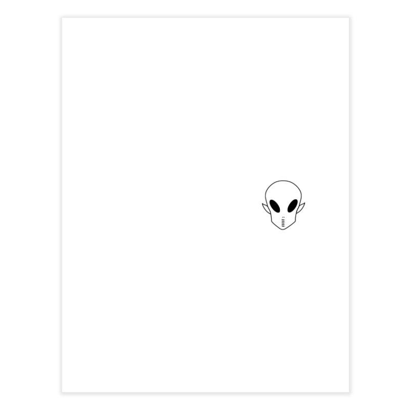 EZO Alien Wannabe Patch - Black Outline Home Fine Art Print by ezo's Artist Shop