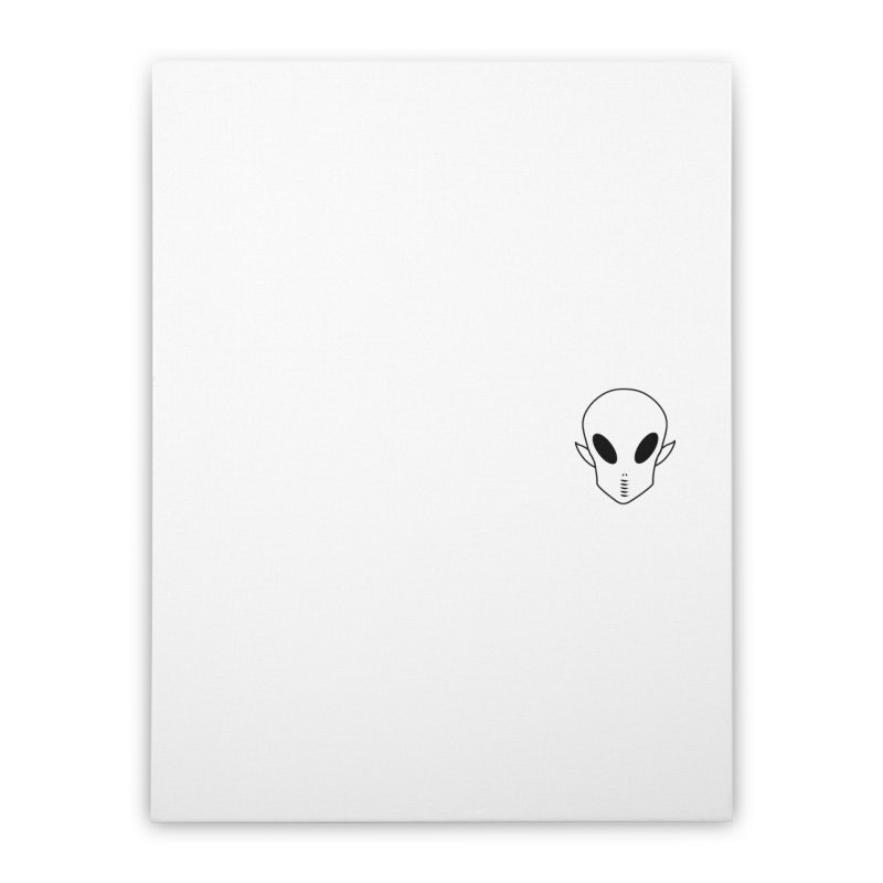 EZO Alien Wannabe Patch - Black Outline Home Stretched Canvas by ezo's Artist Shop