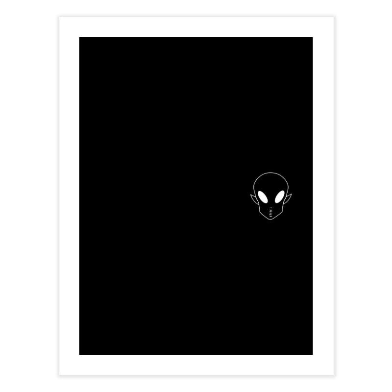 EZO Alien Wannabe Patch - White Outline Home Fine Art Print by ezo's Artist Shop