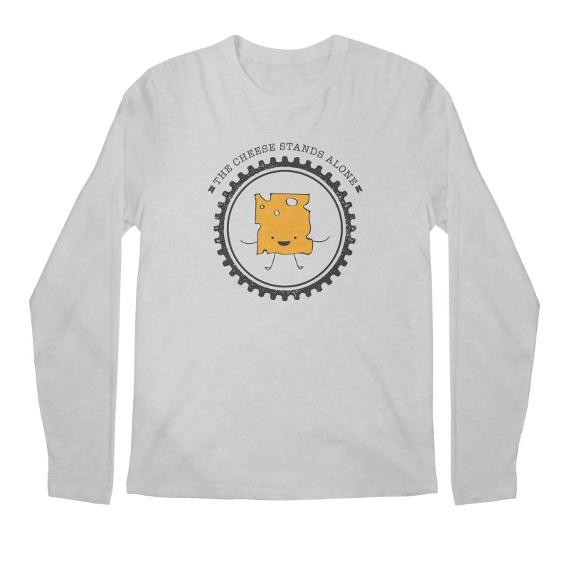 The Cheese Stands Alone Men's Longsleeve T-Shirt by F A B O O L U X
