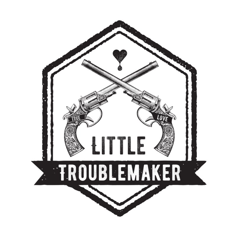 Little Troublemaker Kids T-Shirt by F A B O O L U X