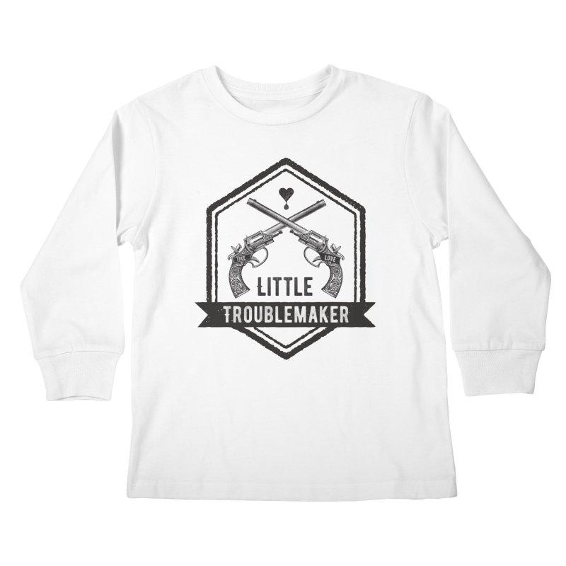 Little Troublemaker Kids Longsleeve T-Shirt by F A B O O L U X