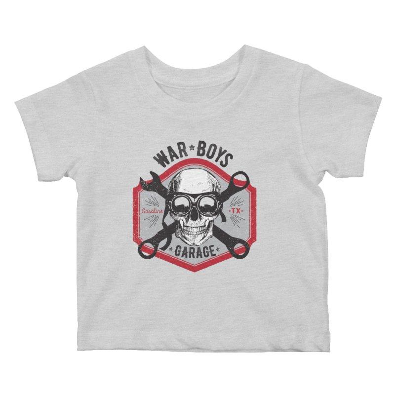 War Boys Garage Kids Baby T-Shirt by F A B O O L U X