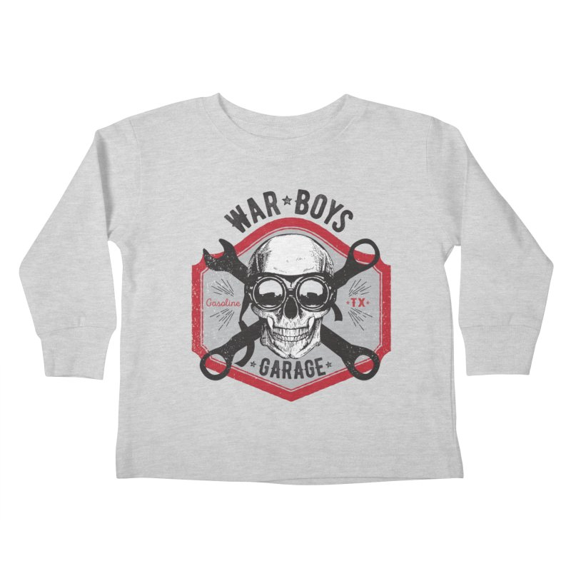 War Boys Garage Kids Toddler Longsleeve T-Shirt by F A B O O L U X