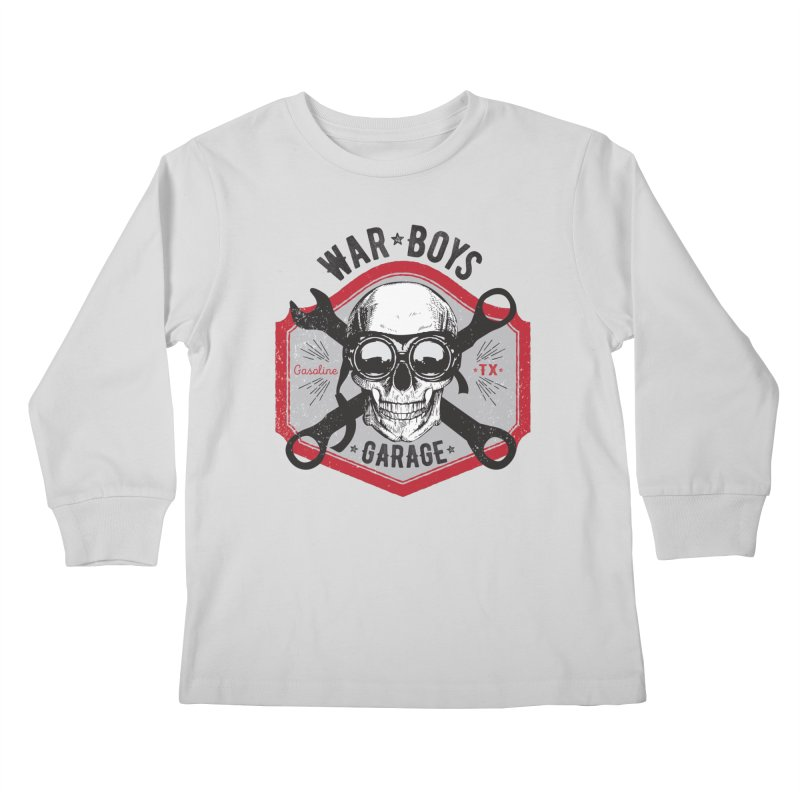 War Boys Garage Kids Longsleeve T-Shirt by F A B O O L U X
