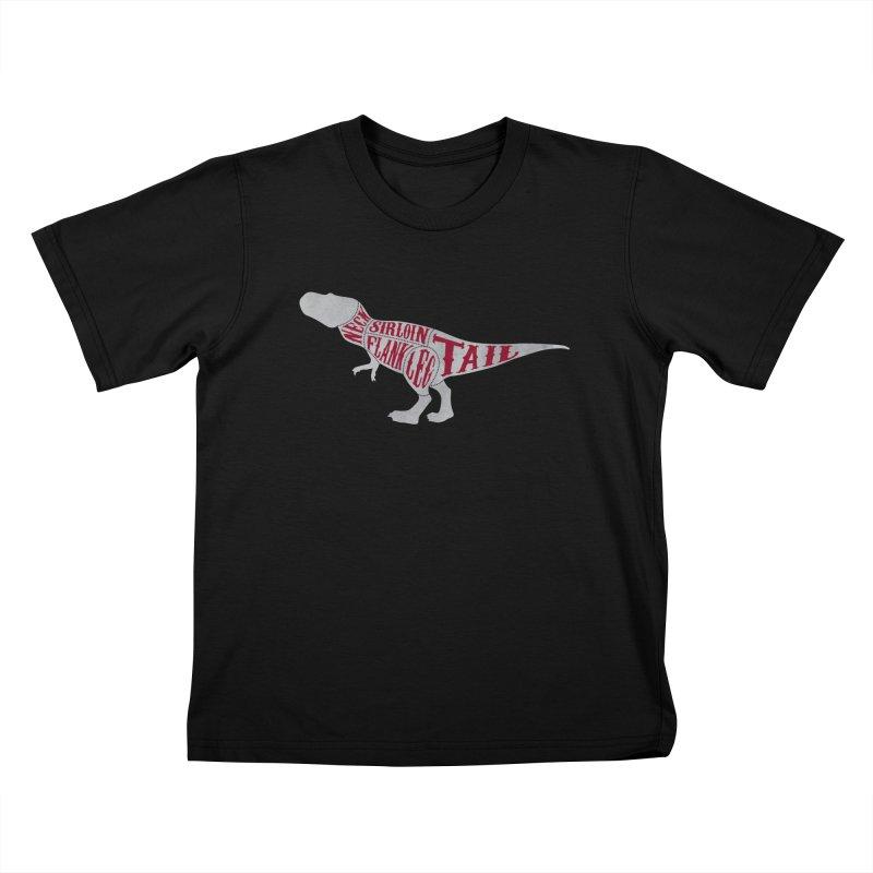 T-Bone Rex Kids T-Shirt by F A B O O L U X