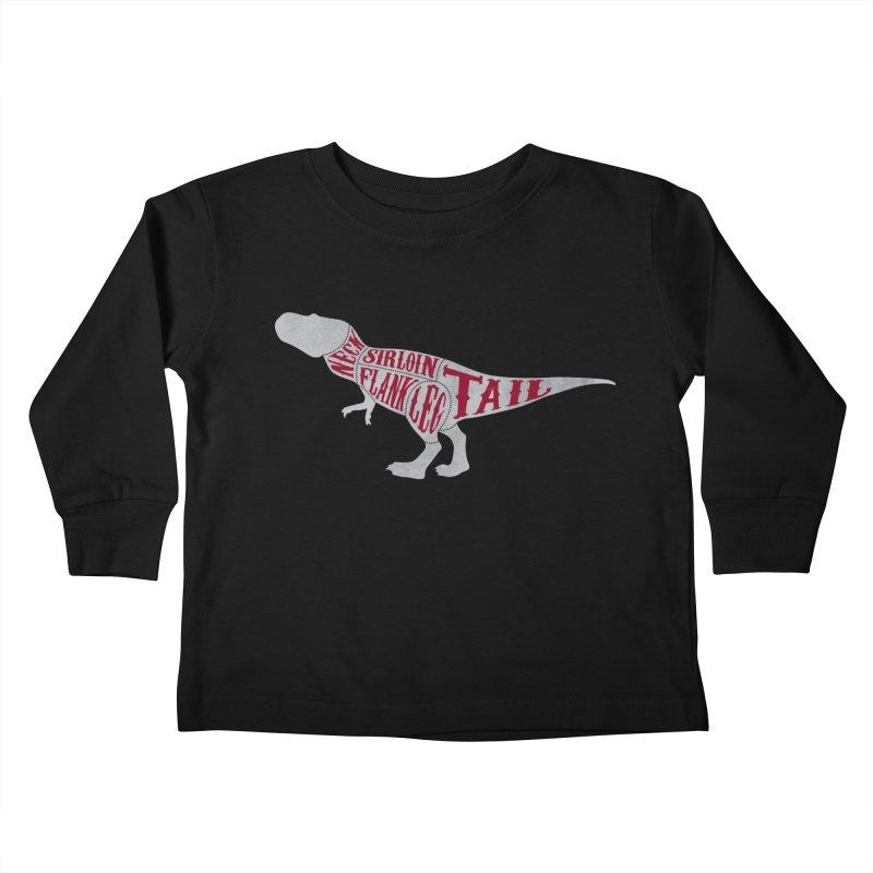 T-Bone Rex Kids Toddler Longsleeve T-Shirt by F A B O O L U X