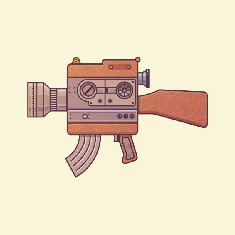 Camera Gun Men's T-Shirt by fabric8's Artist Shop