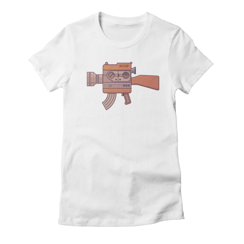 Camera Gun Women's Fitted T-Shirt by fabric8's Artist Shop