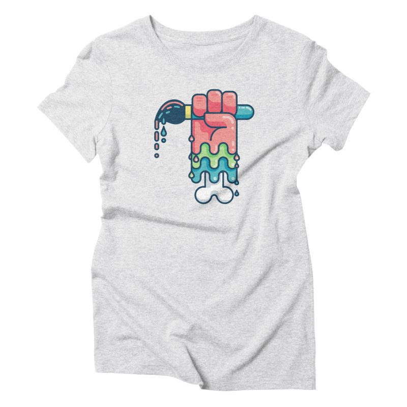 Paint or Die Women's T-Shirt by fabric8's Artist Shop