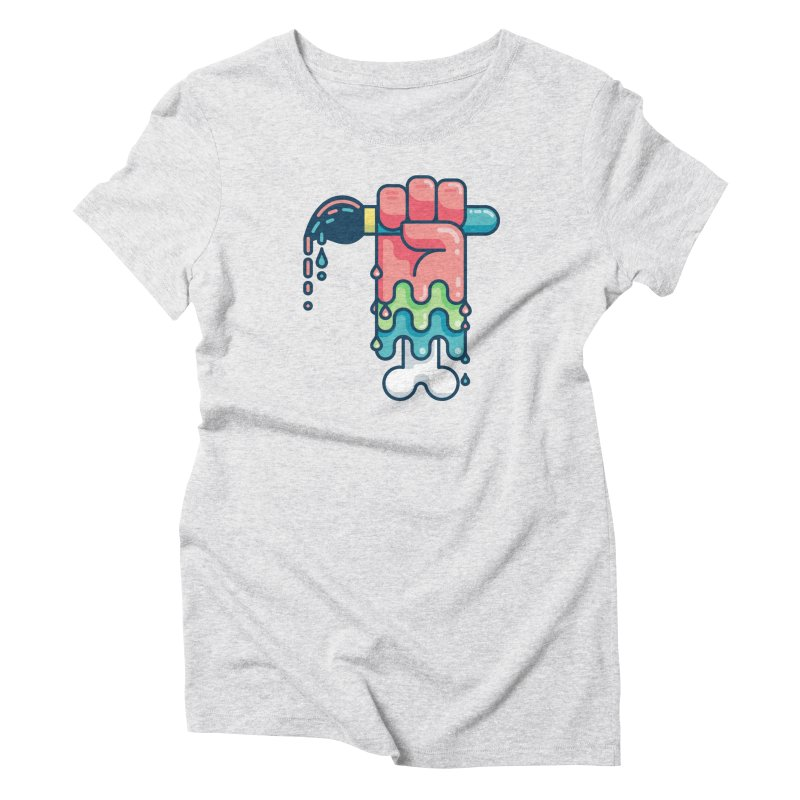 Paint or Die Women's Triblend T-Shirt by fabric8's Artist Shop
