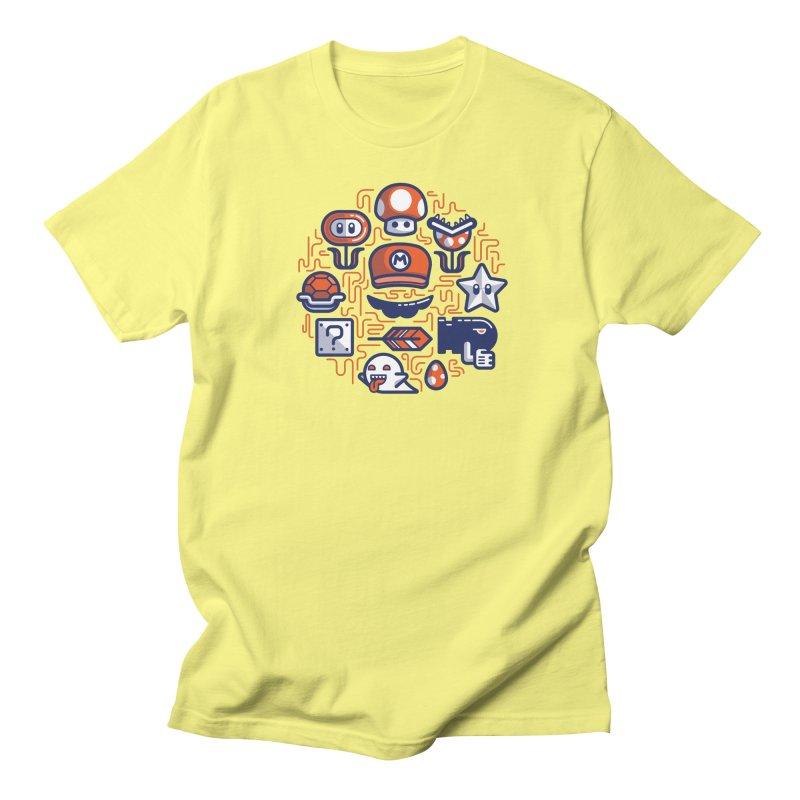 Mario Essentials Men's Regular T-Shirt by fabric8's Artist Shop