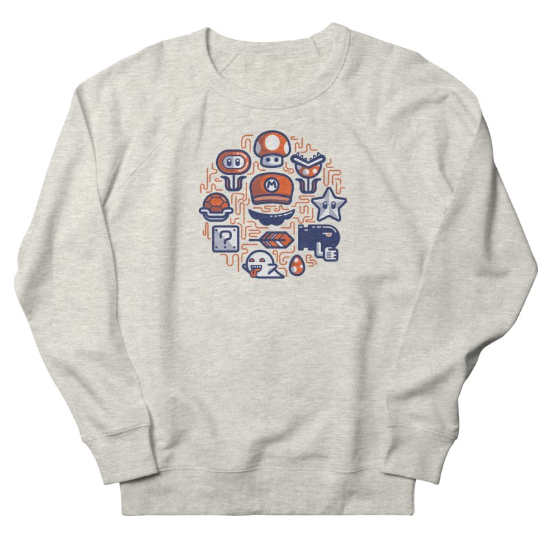 Mario Essentials Women's French Terry Sweatshirt by fabric8's Artist Shop