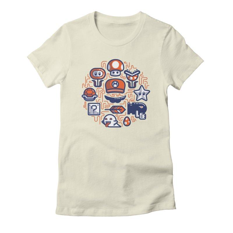 Mario Essentials Women's T-Shirt by fabric8's Artist Shop