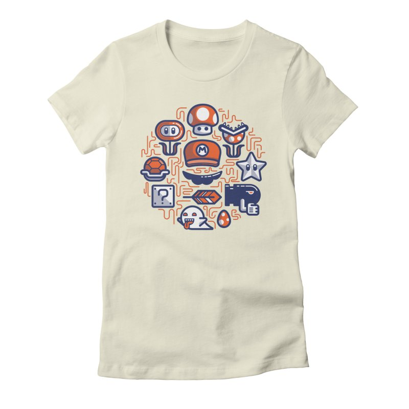 Mario Essentials Women's Fitted T-Shirt by fabric8's Artist Shop
