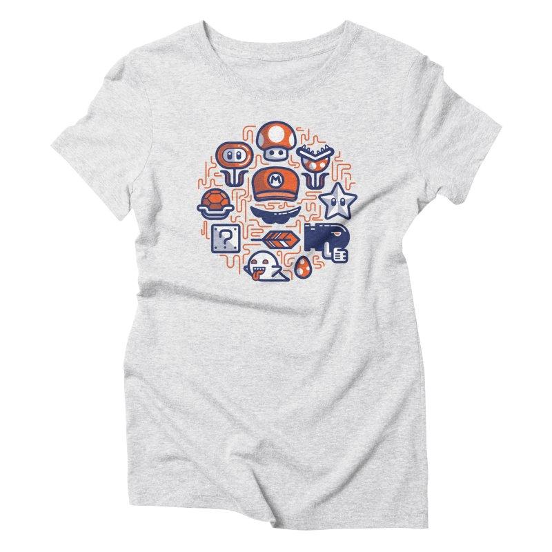 Mario Essentials Women's Triblend T-Shirt by fabric8's Artist Shop