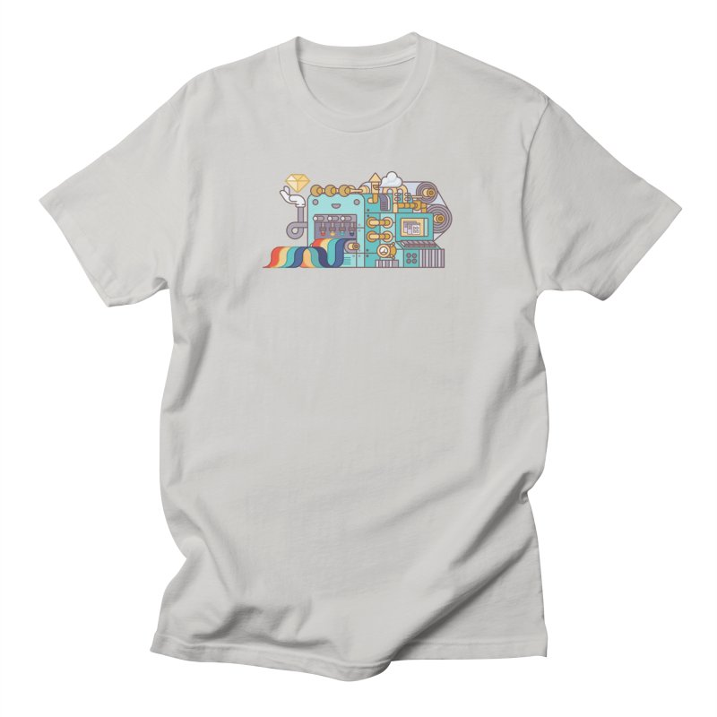Rainbow Factory Men's T-Shirt by fabric8's Artist Shop
