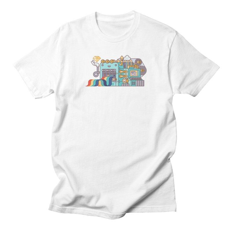 Rainbow Factory Men's Regular T-Shirt by fabric8's Artist Shop