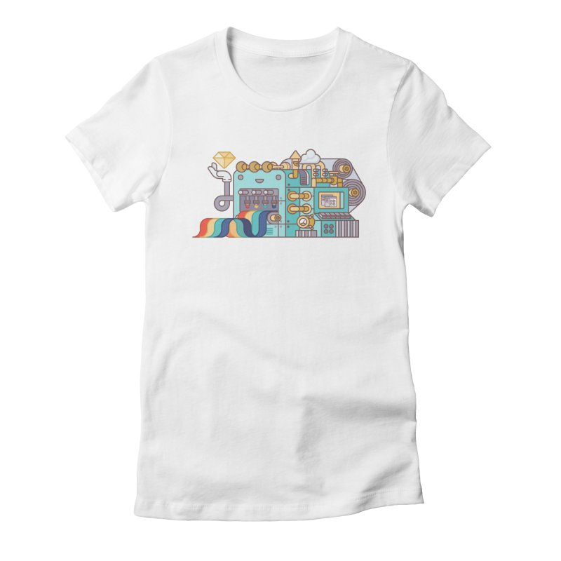 Rainbow Factory Women's Fitted T-Shirt by fabric8's Artist Shop