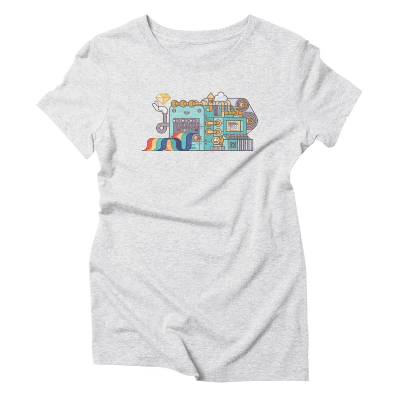 Rainbow Factory Women's T-Shirt by fabric8's Artist Shop