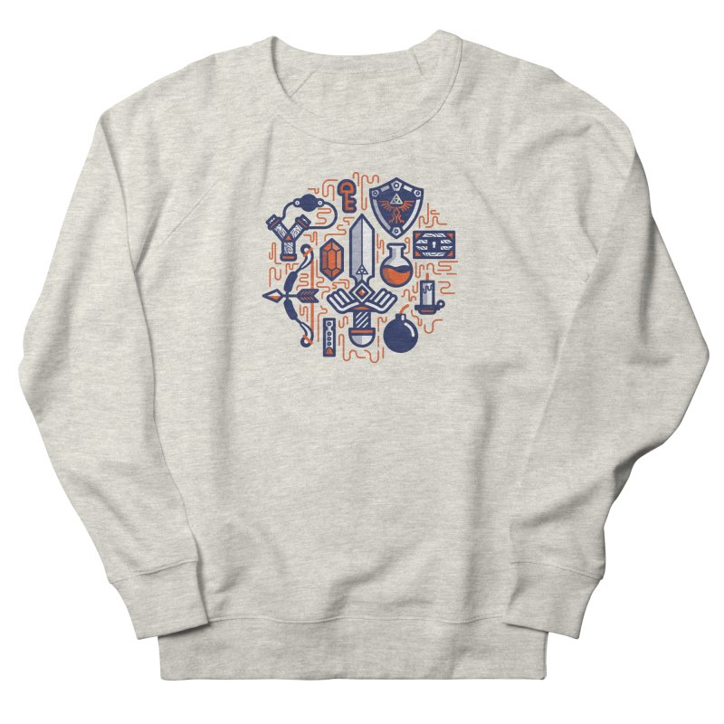 Zelda Essentials Women's French Terry Sweatshirt by fabric8's Artist Shop