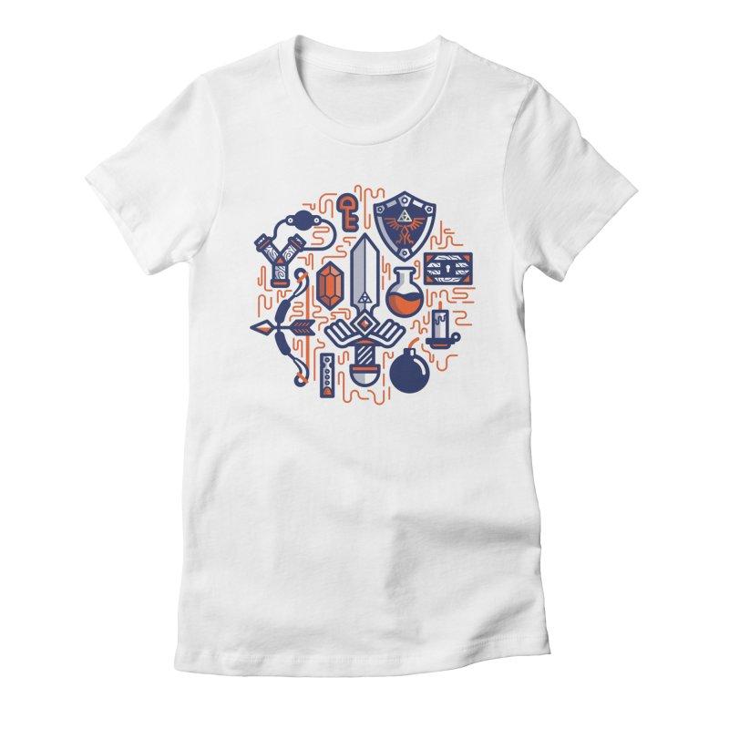 Zelda Essentials Women's Fitted T-Shirt by fabric8's Artist Shop