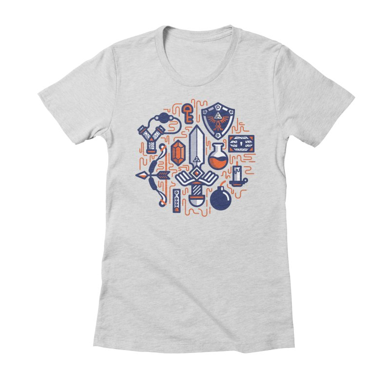 Zelda Essentials Women's Fitted T-Shirt by fabric8's Artist Shop
