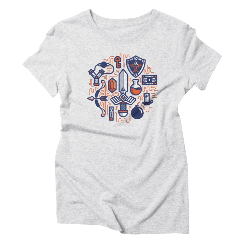 Zelda Essentials Women's T-Shirt by fabric8's Artist Shop
