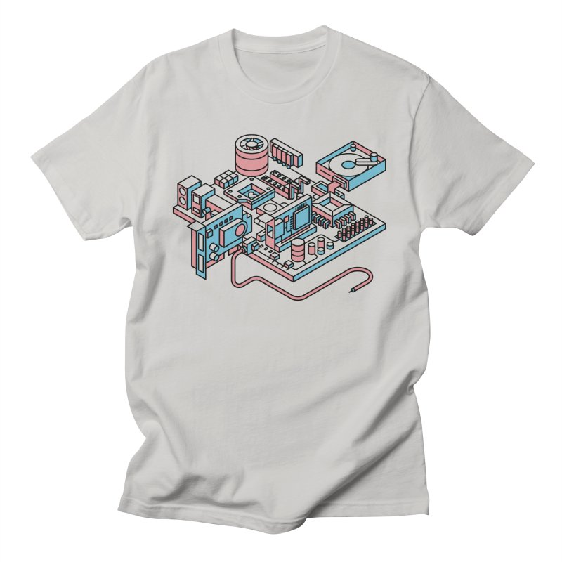 Motherboard Men's T-Shirt by fabric8's Artist Shop