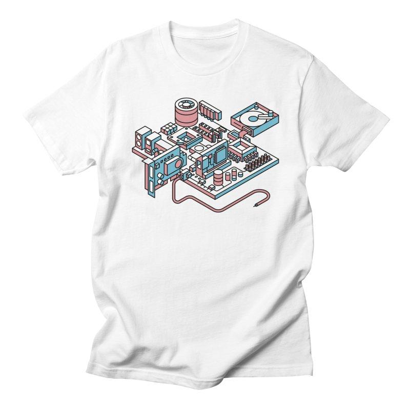 Motherboard Men's Regular T-Shirt by fabric8's Artist Shop