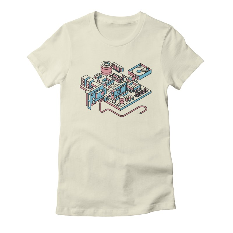 Motherboard Women's T-Shirt by fabric8's Artist Shop