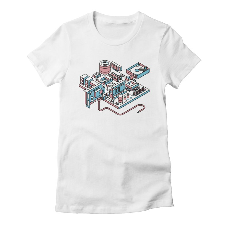 Motherboard Women's Fitted T-Shirt by fabric8's Artist Shop