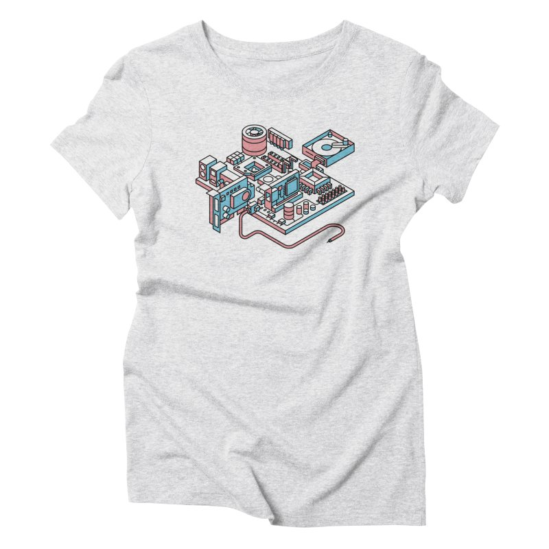 Motherboard Women's Triblend T-Shirt by fabric8's Artist Shop