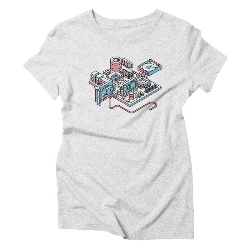 Motherboard Women's T-Shirt by fabric8's Artist Shop