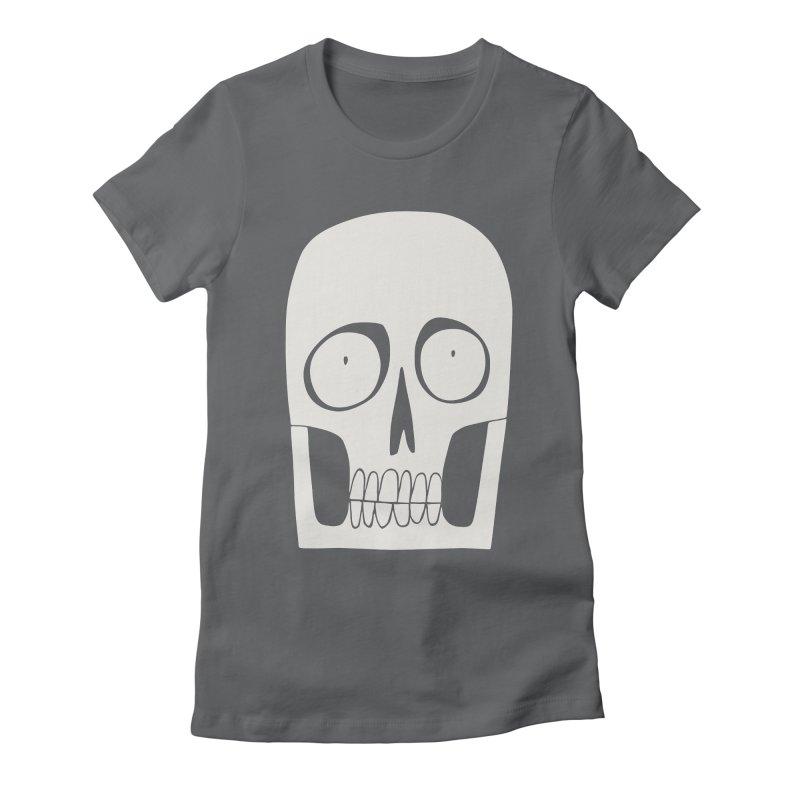 Skullduggery Women's Fitted T-Shirt by facebunnies's Artist Shop