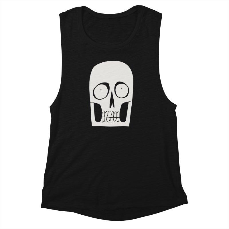 Skullduggery Women's Muscle Tank by facebunnies's Artist Shop