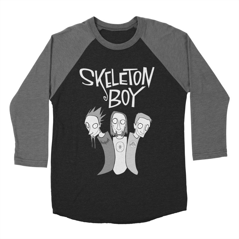 Skeleton Boy Men's Baseball Triblend T-Shirt by facebunnies's Artist Shop