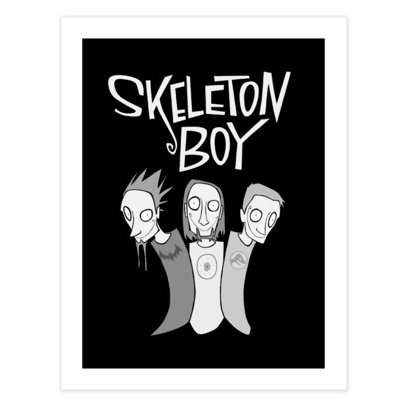 Skeleton Boy Home Fine Art Print by facebunnies's Artist Shop