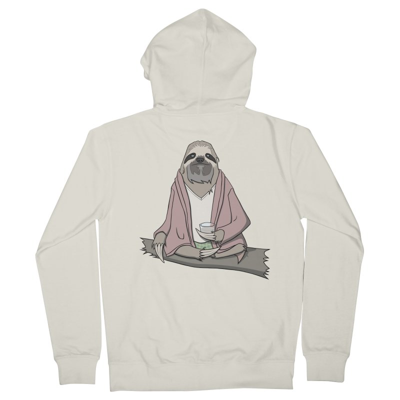 The Sloth Abides Men's Zip-Up Hoody by facebunnies's Artist Shop