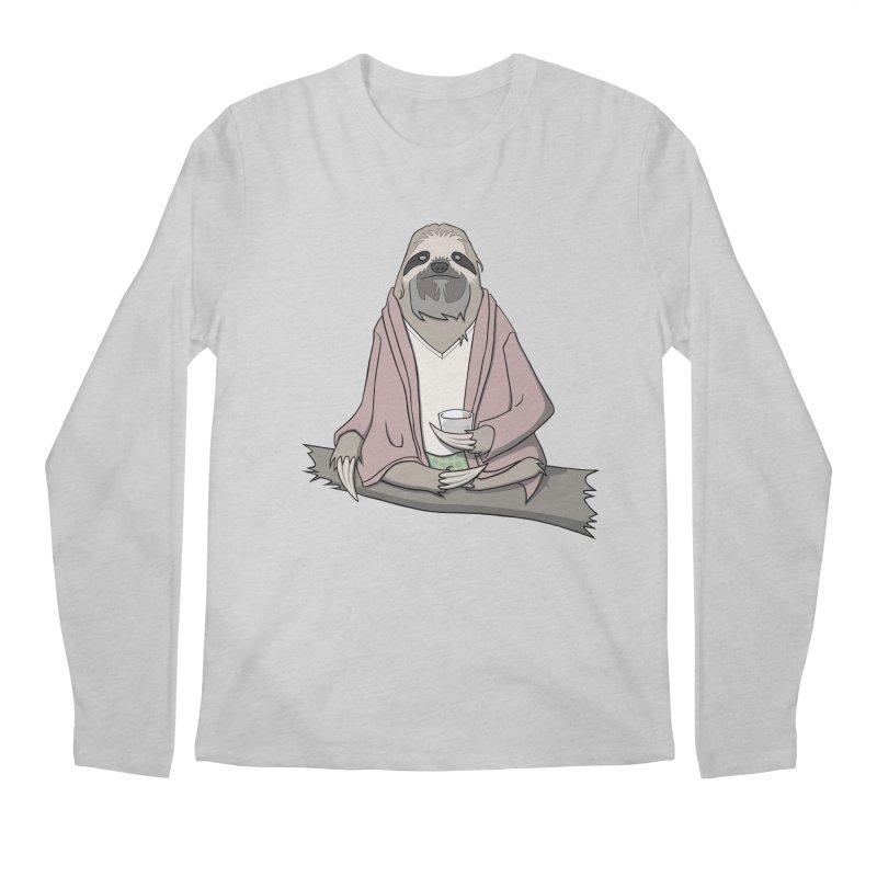 The Sloth Abides Men's Longsleeve T-Shirt by facebunnies's Artist Shop