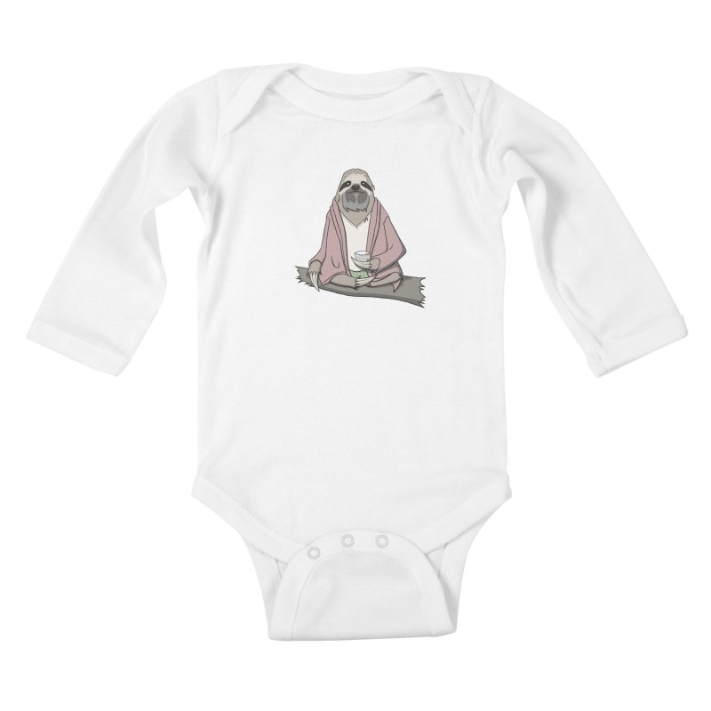 The Sloth Abides Kids Baby Longsleeve Bodysuit by facebunnies's Artist Shop