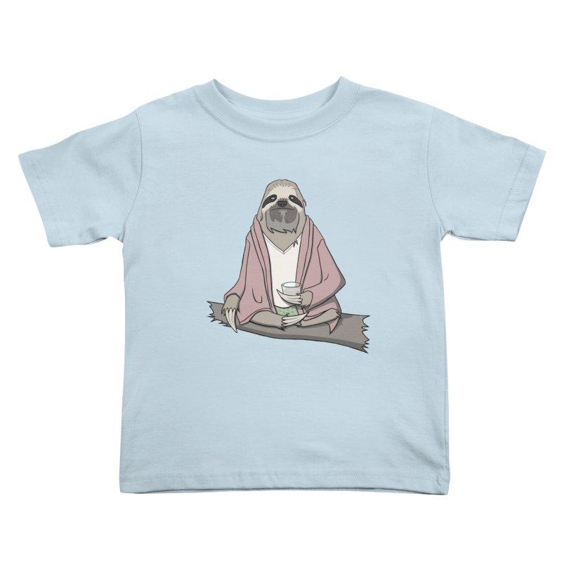 The Sloth Abides Kids Toddler T-Shirt by facebunnies's Artist Shop