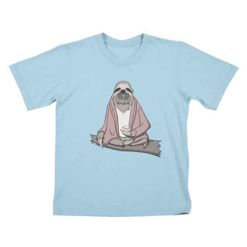 The Sloth Abides Kids T-Shirt by facebunnies's Artist Shop