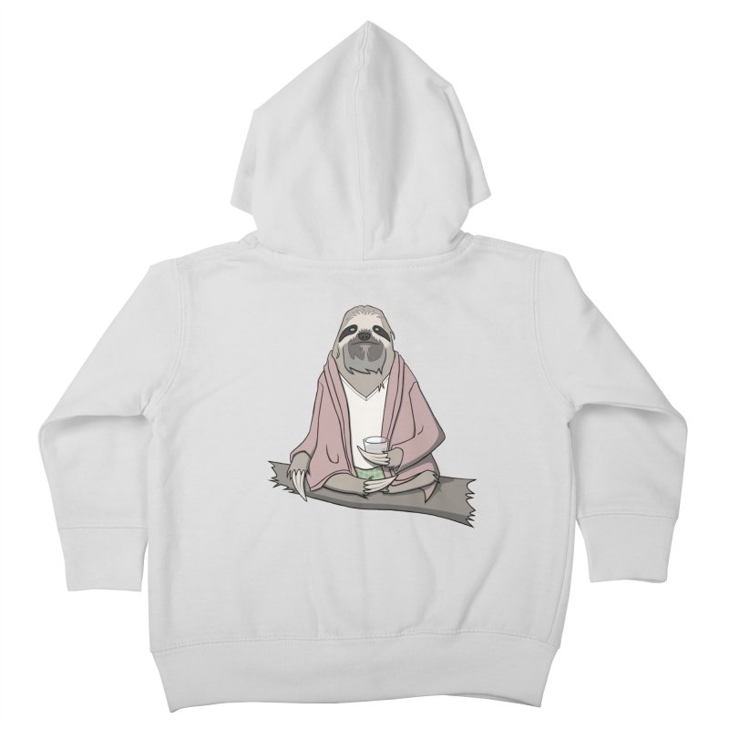 The Sloth Abides Kids Toddler Zip-Up Hoody by facebunnies's Artist Shop