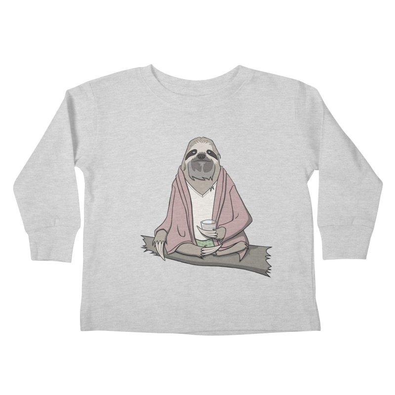 The Sloth Abides Kids Toddler Longsleeve T-Shirt by facebunnies's Artist Shop