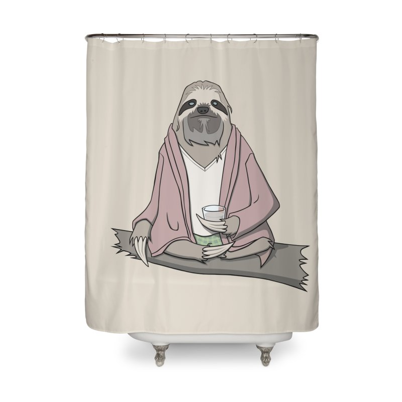 The Sloth Abides Home Shower Curtain by facebunnies's Artist Shop