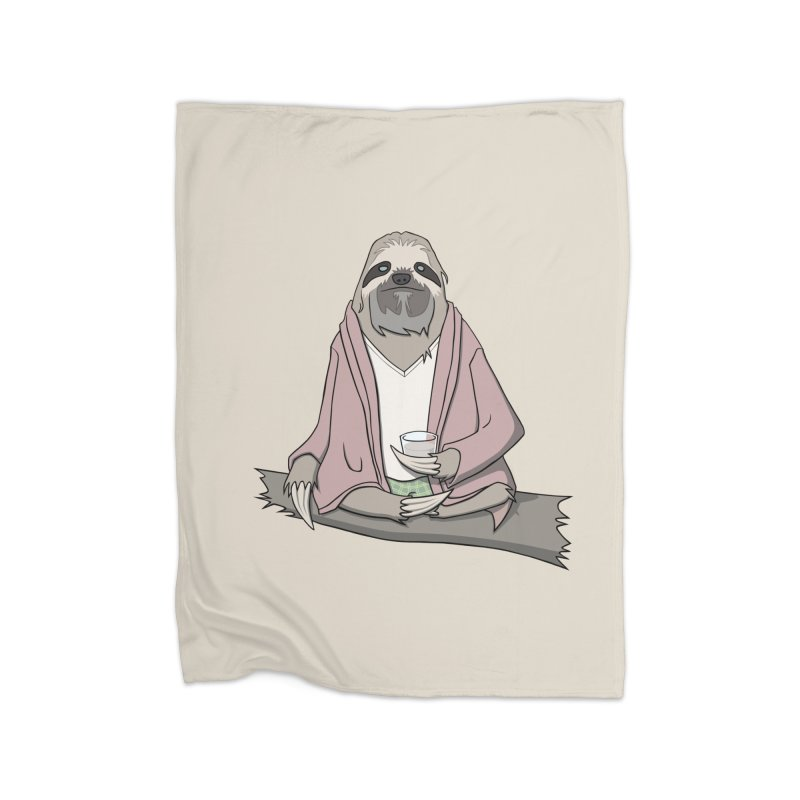 The Sloth Abides Home Blanket by facebunnies's Artist Shop