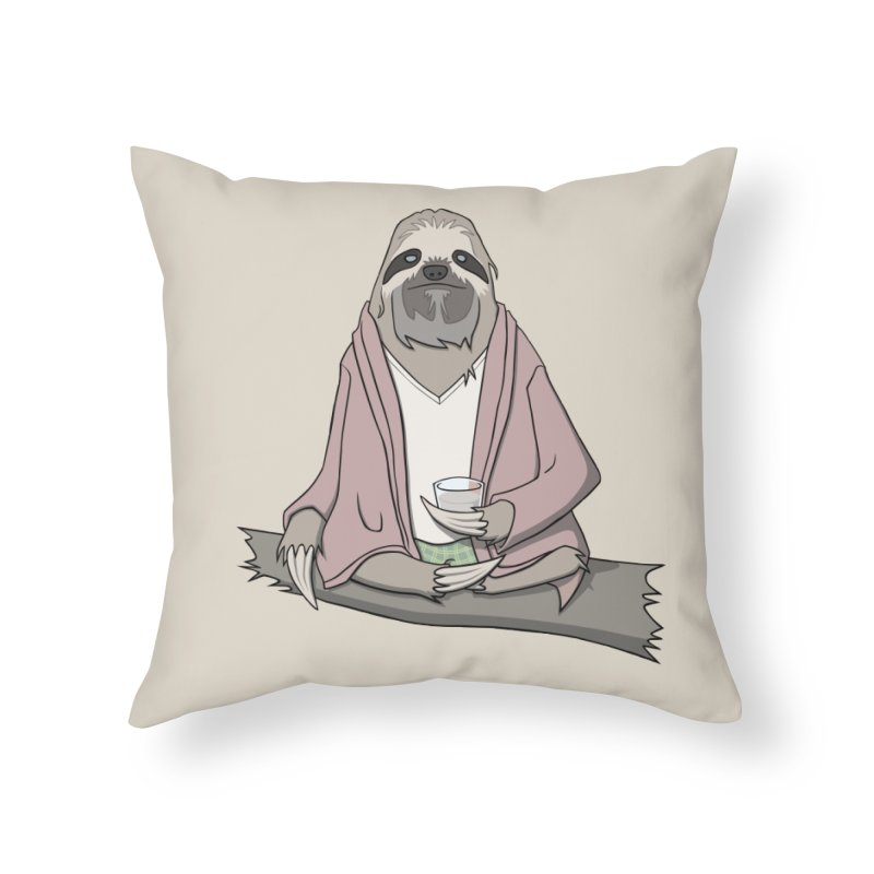 The Sloth Abides Home Throw Pillow by facebunnies's Artist Shop